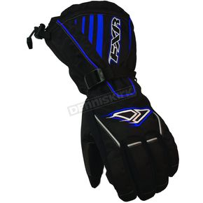 FXR Racing Black/Blue Fuel Gloves - 2801