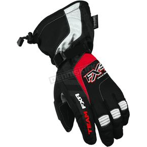 FXR Racing Black/Red Cold Cross Gloves - 2800