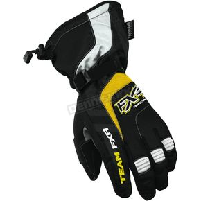 FXR Racing Black/Yellow Cold Cross Gloves - 2800