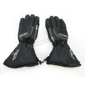 FXR Racing Black Leather Gauntlet Gloves - 9208