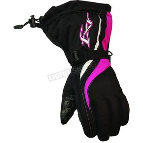 FXR Racing Womens Black/Fushia Tempt Gloves - 2806