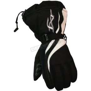 FXR Racing Womens Black/White Tempt Gloves - 2806