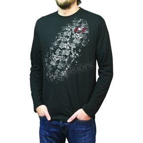 FXR Racing Black Team Print Long-Sleeve Shirt - 2621