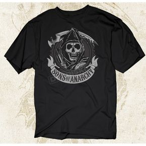 Sons of Anarchy SOA Logo T-Shirt - 28-601-58BK-M