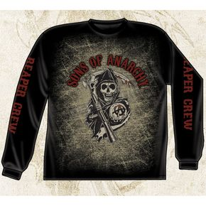 Sons of Anarchy Long Sleeve Reaper Crew T-Shirt - 28-405-37BK-XXL