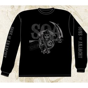 Sons of Anarchy Long Sleeve Layered SOA T-Shirt - 28-405-39BK-XXL