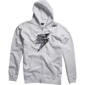 Shift White/Gray Barbolt Fleece Zip Hoody - 45459-060-L