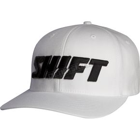 Shift White Flex-Fit Word Hat - 68297-008-S/M