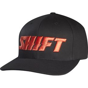Shift Black/Red Flex-Fit Word Hat - 68297-017-L/XL