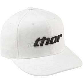 Thor Basic Curved Bill White/Black Hat - 25011220