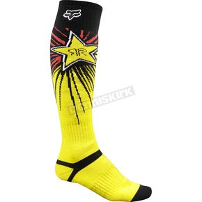 Fox Red/Yellow FRI Thick Rockstar Socks - 16079-080