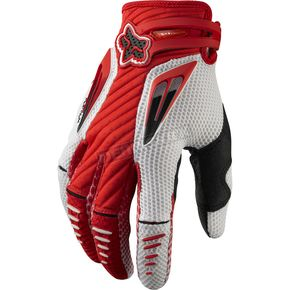 Fox Red/White Platinum Race Gloves - 03166-054