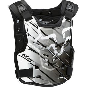 Fox White/Black Proframe LC Future Roost Deflector - 06121-058-L/XL