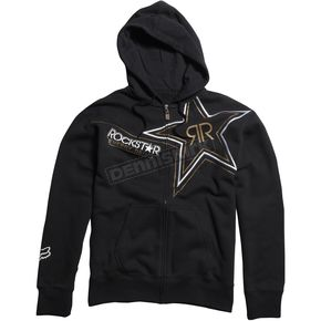 Fox Black Golden Rockstar Zip Hoody - 45434-001-L