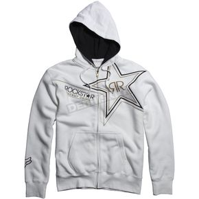 Fox White Golden Rockstar Zip Hoody - 45434-008-M