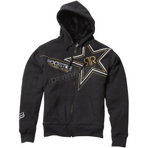 Fox Heather Black Sasquatch Rockstar Zip Hoody - 45438-243-M
