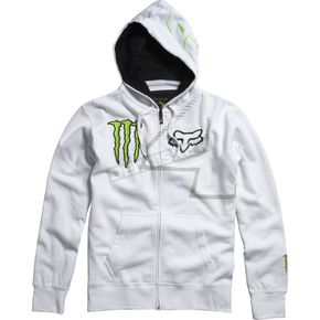 Fox White Monster RC 4 Zip Hoody - 45366-008-L