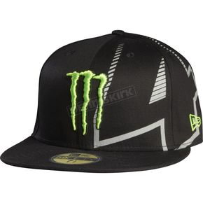 Fox Black Monster RC 4 New Era Hat - Size 7 1/4 - 68234