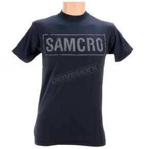 Sons of Anarchy Navy Cracked Samcro Two Sided T-Shirt - 28-635-78-XXL