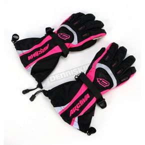 Arctiva Womens Black/Pink Comp 7 Gloves - 3341-0208