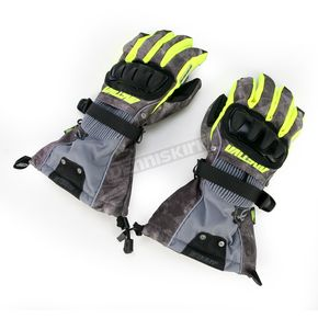 Arctiva Black/Hi-Viz Yellow Mechanized 5 Gloves - 3340-0760
