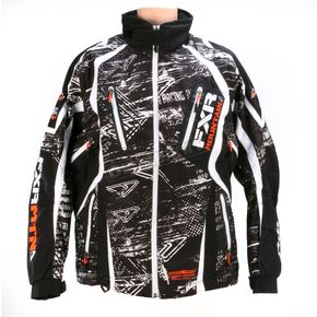 FXR Racing Black/White Vapour BoonDocker Jacket - 13140
