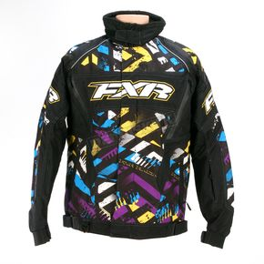FXR Racing Cyan/Purple/Yellow/Black Strike Helix Jacket - 13115