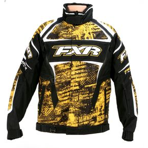 FXR Racing Yellow Warp Helix Jacket - 13115