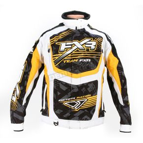 FXR Racing Yellow/White Strike Cold Cross Jacket - 13125