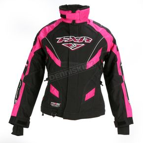 FXR Racing Womens Black/Fuchsia Adrenaline X Jacket - 13205