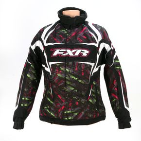 FXR Racing Womens Lime/Fuchsia Circuit Velocity Storm Jacket - 13210