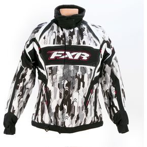 FXR Racing Womens Hex Camo/White Velocity Storm Jacket - 13210