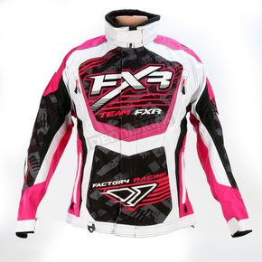 FXR Racing Womens Fuchsia/White Strike Cold Cross Jacket - 13215