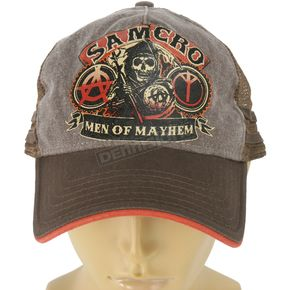 Sons of Anarchy Brown Samcro Trucker Hat - ETSA2003-BR