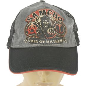 Sons of Anarchy Black Samcro Trucker Hat - ETSA2003-BK