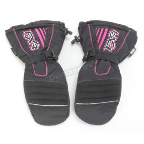 FXR Racing Womens Black/Fuchsia Fuel Mitts - 2813
