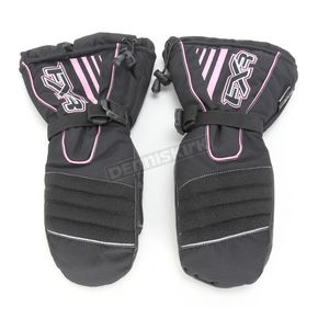 FXR Racing Womens Black/Pink Fuel Mitts - 2813