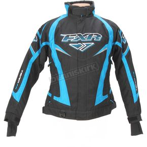 FXR Racing Womens Black/Cyan Team Jacket - 13200