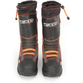 FXR Racing Black/Orange Unisex Excursion Boots - 13505