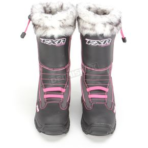 FXR Racing Womens Black/Fuchsia Excursion Boots - 13505.90106