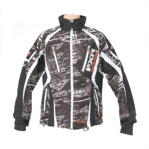 FXR Racing Black/White/Orange Boondocker Vapour Lite Jacket - 14104