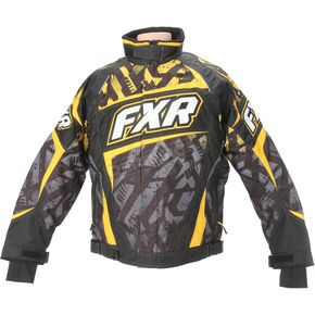 FXR Racing Yellow Charcoal Strike Helix Jacket - 14115