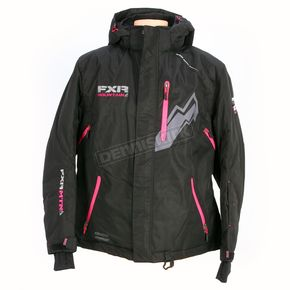 FXR Racing Womens Black Pulse Jacket - 14226