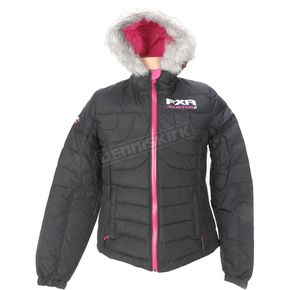 FXR Racing Womens Black Puff Jacket - 14228.10006
