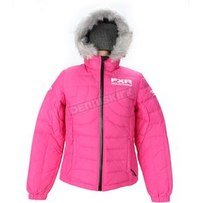 FXR Racing Womens Fuchsia Puff Jacket - 14228.90010