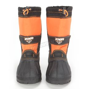 FXR Racing Youth Black/Orange Shredder Boots - 14517