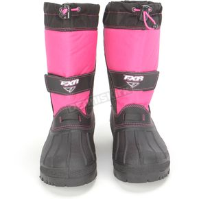 FXR Racing Youth Black/Fuchsia Shredder Boots - 14517