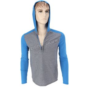 Fox Heather Blue Impact Hoody - 08621-522-XL