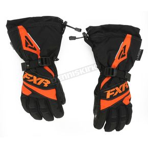 FXR Racing Womens Black/Orange Fusion Gloves - 15614.30110