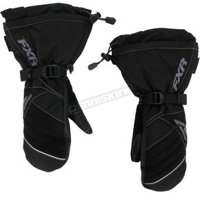 FXR Racing Womens Black/Charcoal Fusion Mitts - 15615.10007